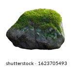 Green Moss Meadow On Rock...