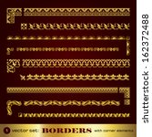 borders with corner elements in ... | Shutterstock .eps vector #162372488