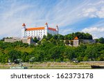 medieval castle on the hill... | Shutterstock . vector #162373178
