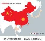 corona virus in wuhan  china... | Shutterstock .eps vector #1623758590