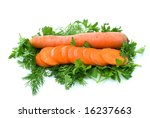 whole carrot and few slices... | Shutterstock . vector #16237663