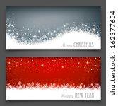 christmas banners | Shutterstock .eps vector #162377654