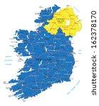 ireland map | Shutterstock .eps vector #162378170
