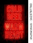 cold beer warm heart bar red... | Shutterstock . vector #1623787783
