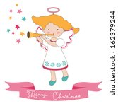 cute christmas card with little ...   Shutterstock .eps vector #162379244