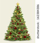 christmas tree.vector | Shutterstock .eps vector #162384386