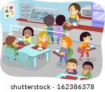 illustration of kids in a... | Shutterstock .eps vector #162386378