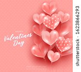 valentines day card with heart...   Shutterstock .eps vector #1623866293