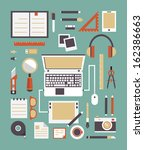 vector set of equipment for... | Shutterstock .eps vector #162386663