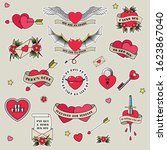 valentine's day tattoo designs  ... | Shutterstock .eps vector #1623867040