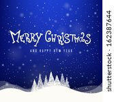 christmas greeting card. merry... | Shutterstock .eps vector #162387644