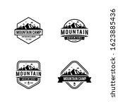 mountain vintage badge bundle.... | Shutterstock .eps vector #1623885436