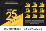 set of anniversary poster color ...   Shutterstock .eps vector #1623913273