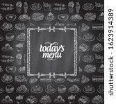 chalk today's menu board design ... | Shutterstock .eps vector #1623914389