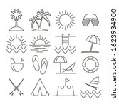 summer linear icons for web and ... | Shutterstock .eps vector #1623934900