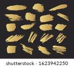 golden brush torn banners. gold ... | Shutterstock .eps vector #1623942250