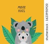 cute cartoon animals koala bear ... | Shutterstock .eps vector #1623950920