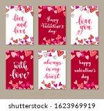 set valentine's day greeting... | Shutterstock .eps vector #1623969919