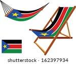 south sudan hammock and deck... | Shutterstock .eps vector #162397934