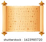 ancient  egyptian papyrus with ... | Shutterstock .eps vector #1623985720