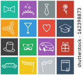 flat prom icons. vector set | Shutterstock .eps vector #162398873