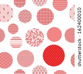 red and white patterned circles ... | Shutterstock .eps vector #162400010