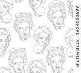 classical head bust. seamless... | Shutterstock .eps vector #1624033699
