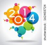 vector 2014 happy new year... | Shutterstock .eps vector #162403724