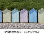 Beach Huts At Budleigh...