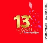 13 year anniversary vector... | Shutterstock .eps vector #1624056283