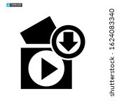 download video icon isolated...