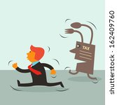 young businessman ran for tax... | Shutterstock .eps vector #162409760