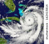 huge hurricane approaching... | Shutterstock . vector #162415814