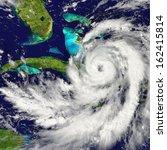 huge hurricane approaching... | Shutterstock . vector #162415814