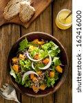 overhead shot of quinoa salad... | Shutterstock . vector #162416000