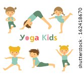 an illustration of cute yoga... | Shutterstock .eps vector #162418670