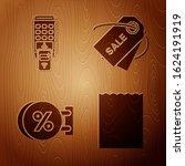 set paper shopping bag  pos...   Shutterstock .eps vector #1624191919