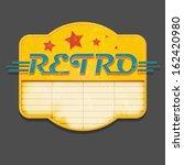 retro sign | Shutterstock .eps vector #162420980