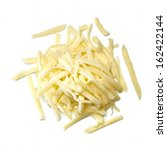 Grated Cheese Pile From Top On...