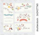 wedding set with cute birds ...   Shutterstock .eps vector #162427760