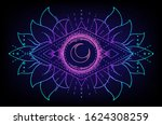 sacred geometry and boo symbol... | Shutterstock .eps vector #1624308259