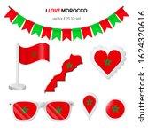 morocco symbols attributes.... | Shutterstock .eps vector #1624320616