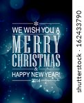 vector merry christmas and... | Shutterstock .eps vector #162433790