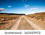 A Landscape View Of A Farm Road ...