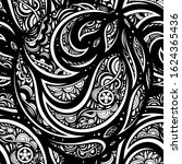 vector black and white abstract ... | Shutterstock .eps vector #1624365436