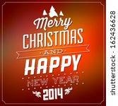 christmas typographic design  ...   Shutterstock .eps vector #162436628