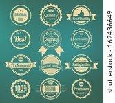 collection of retro premium... | Shutterstock .eps vector #162436649