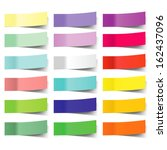 collection of colorful vector... | Shutterstock .eps vector #162437096