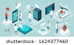 doctors and researchers using... | Shutterstock .eps vector #1624377460