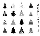christmas tree icons set  ... | Shutterstock .eps vector #162438254